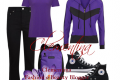 Outfit...Black e Purple!