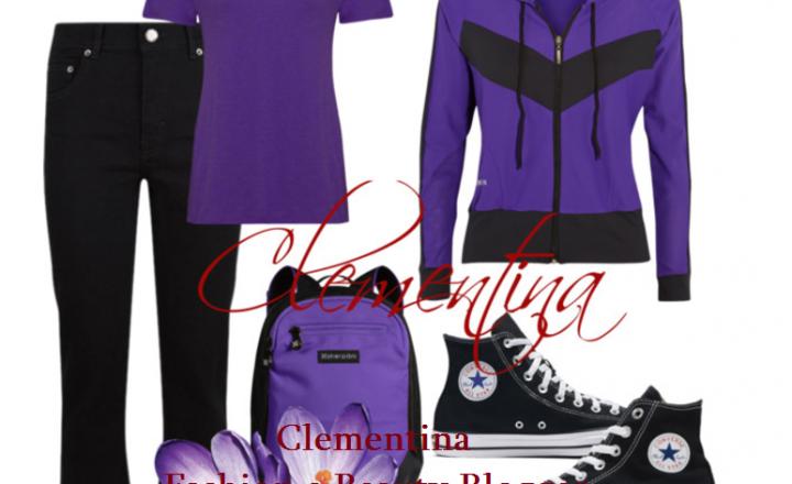 Outfit…Black e Purple!