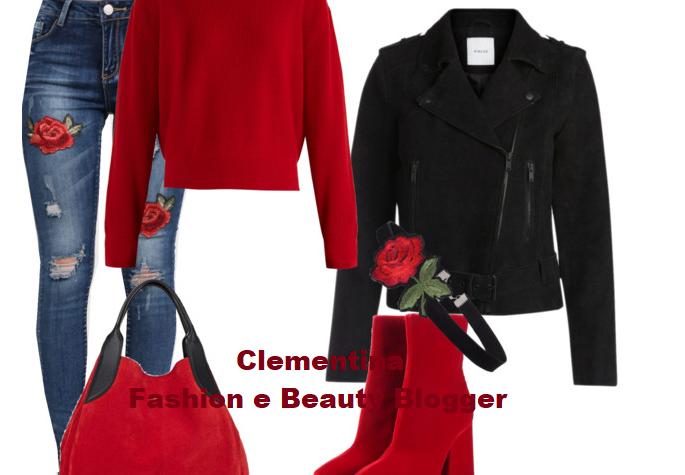 Outfit…Ripped Jeans with roses!