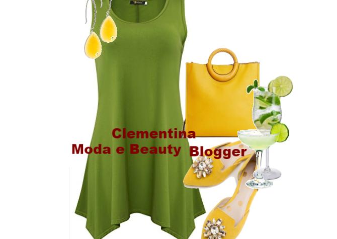 Outfit aperitivo estate…in verde e giallo